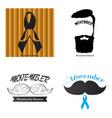 movember graphic design vector image