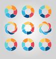 business circle infographics set vector image
