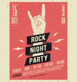 rock music festival flyer vector image