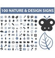 100 nature design signs vector image