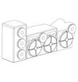 3d model of speaker system on a white vector image vector image