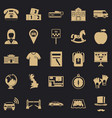 autobus icons set simple style vector image