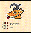 Aztec symbol Mazatl vector image vector image