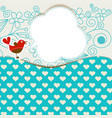 baby shower with cute bird announcement in a vector image