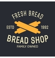 bakery logo label design elements vector image vector image
