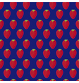 Blue and red strawberry textile print seamless vector image vector image