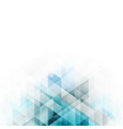 blue triangles design abstract background with vector image vector image
