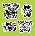 body positive quotes vector image