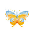 bright butterfly with beautiful pattern on the vector image vector image