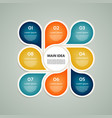 business concept with 8 options vector image vector image