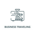 business traveling line icon business vector image vector image