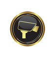 camera icon button gold copy vector image