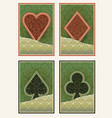 casino poker cards with floral decor vector image vector image