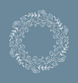 christmas wreath with flowers and cone vector image vector image