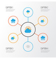 climate flat icons set collection of the flash vector image vector image