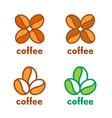 coffee grain beans logo vector image vector image