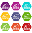 construction business icons set 9 vector image