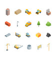 construction multistory building concept icons vector image vector image