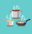 cooking at home pans vector image