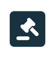 court law icon Rounded squares button vector image vector image
