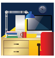 desktop workstation colorful vector image