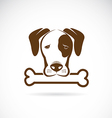 dog and bone vector image