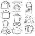 doodle of kitchen equipment style vector image vector image