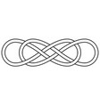 double knot infinity sign double infinity vector image