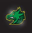 dragon head esport mascot logo vector image vector image