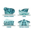 facade architecture for soccer or football stadium vector image vector image