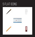 flat icon tool set of nib pen fastener page vector image vector image