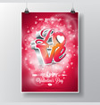 flyer on a valentines day vector image vector image