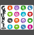 genres of cinema icons set in grunge style vector image vector image