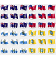 Georgia Samoa San Marino Kalmykia Set of 36 flags vector image vector image