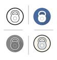gym kettlebell icon vector image