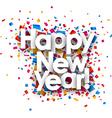 Happy New year vector image vector image