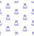 hippo baby pattern seamless vector image vector image