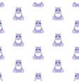 hippo bapattern seamless vector image