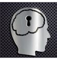 human head with a keyhole vector image vector image