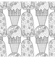 ice cream dessert black and white vector image vector image