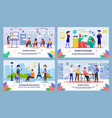 international students education banners vector image vector image