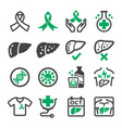 liver cancer icon vector image
