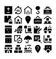 Logistics delivery Icons 3 vector image vector image