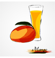 mango juice vector image vector image