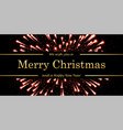 marry christmas and happy new year card red magic vector image