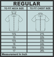 Men shirt regular size vector image vector image