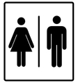 mens and womens disabled restroom signage vector image