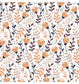 modern seamless pattern with autumn floral vector image vector image