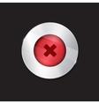no button cross vector image vector image