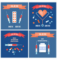 prevention awareness posters set syringe and pills vector image